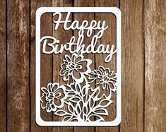 63 Ideas Birthday Card Template Colour For 2019 Diy Birthday Card, Birthday Card Template, Personalized Birthday Cards, Happy Birthday, Paper Cutting Patterns, Paper Cutting Templates, Kirigami, Diy Paper, Paper Crafts
