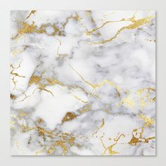 Italian Gold Marble Canvas Print by Oat And Milk - Medium