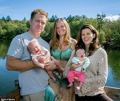 Polyamorous man's two wives give birth within 30 days of one another - and all three insist they couldn't be happier