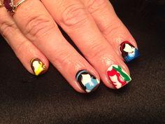 Disney princess nails - done by Marisol Gonzalez