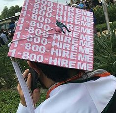 In the face of a terrifying future and crippling debt, we wear funny graduation caps to stick it to the system. Funny Grad Cap Ideas, Funny Graduation Caps, Graduation Cap Designs, Graduation Cap Decoration, Graduation Diy, Graduation Quotes, Decorate Cap For Graduation, Decorated Graduation Caps, Graduation Outfits
