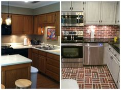 Thin Brick, Kitchen Cabinets, Home Decor, Decoration Home, Room Decor, Cabinets, Home Interior Design, Dressers, Home Decoration