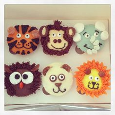 Animal Cupcakes Zoo Cupcakes, Zoo Animal Cupcakes, Cupcake Cookies, Animal Party, Animal Fun, Cupcake Day, Zoo Birthday, Beautiful Cupcakes, Safari Party