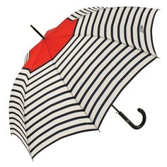 JEAN PAUL GAULTIER Matelot Stripes Umbrella ($159) ❤ liked on Polyvore featuring accessories, umbrellas, leather umbrella, jean paul gaultier umbrella, striped umbrella, jean-paul gaultier and print umbrella