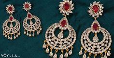 Red Drop Golden Earrings With CZ Stones  PRODUCT CODE: 242079 #voylla #jewellery #finejewellery #shopping #onlineshopping #fashionjewellery #onlinejewellery #Bracelet #Bangles #Necklace #earrings #mensjewellery #AkshyaTritiya #womensjewellery @fashionwtf  @indianjewelryuk