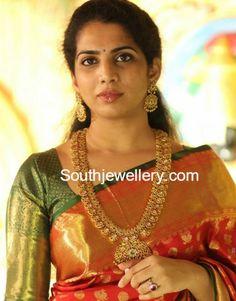 Kundan Mango Mala and Earrings Set photo