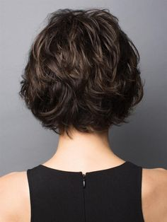 The Brenna Lace Front Wig from the Rene of Paris Hi Fashion line is a layered bob with a long side fringe and soft face-framing tendrils. This style features a