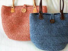 Paper Raffia Bag in the Round - a 'M.E. Nolfi Design' @ Crochet Asylum