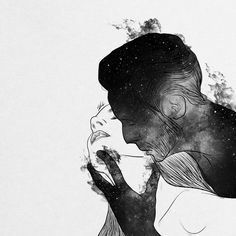 Digital designer and illustrator Muhammed Salah. Muhammed Salah is a 27 years old artist, illustrator, art director, digital designer and graphic designer. Muhammed Salah, Digital Art Girl, Couple Art, Erotic Art, Love Art, Foto E Video, Framed Art Prints, Fantasy Art, Art Drawings