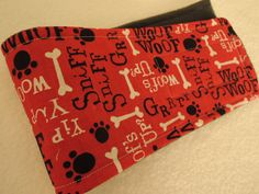 Dog Belly Band, Red, Personalized