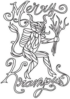 According to Alpine legend, Krampus is the counterpart of Saint Nicholas, bringing punishment to naughty children on the evening of Dec. 5. Downloads as a PDF. Use pattern transfer paper to trace design for hand-stitching.
