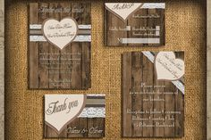 Rustic Wedding Invitations- Natural Earth Tones Wedding Invitation Set - Printable Design Download on Etsy, $18.00