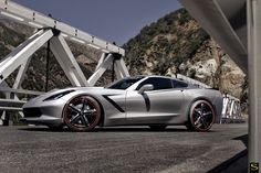 Savini Forged-Signature Wheels SV56-P in Custom on a Chevrolet Corvette Stingray. 21x9 front with 255/30-21 tires and 22x11 rear with 295/25-22 tires.  https://youtu.be/LXYtAWsbaVM  http://www.americanwheelandtire.com/houston-wheels/Savini-Forged_Signature/