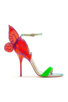 Spring 2014 Sophia Webster Red Green Purple Sandals High Heels #PinAtoZ