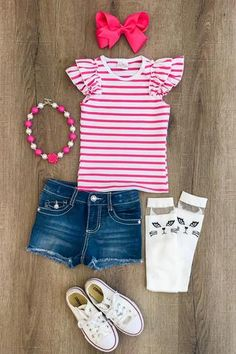 Shop cute kids clothes and accessories at Sparkle In Pink! With our variety of kids dresses, mommy + me clothes, and complete kids outfits, your child is going to love Sparkle In Pink! Cute Baby Girl Outfits, Cute Outfits For Kids, Toddler Girl Outfits, Cute Baby Clothes, Toddler Fashion, Kids Fashion, Girls Boutique, Boutique Clothing, Outfits Niños