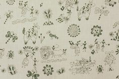 Lucknow Green Fabric - Penny Morrison