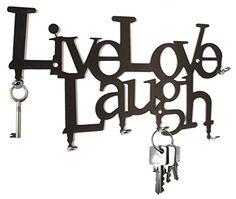 Live Love Laugh - Wall Key Hooks - Holder, Hanger Design steelprint.de http://www.amazon.com/dp/B00BH0BDZ8/ref=cm_sw_r_pi_dp_m1jnvb18NBT8R