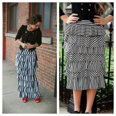 #daintyjewells Striped maxi and short skirt by Dainty Jewells www.daintyjewells.com