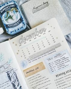 studywith_solenne Part of my monthly spread❄⛄