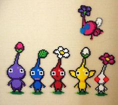 Pikmin perler beads - Pattern: https://www.pinterest.com/pin/374291419011808206/