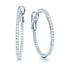 From+the+Birks+Rosée+du+Matin®+Collection. Medium+18KT+white+gold+hoop+earrings+with+pavé+diamonds.++#BlueBox+via+@MaisonBirks