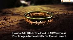 How to Add HTML Title Attribute to All WordPress Images Automatically For Mouse Hover Tooltip?