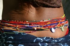 current project: making waist beads...i already made one for Aminah, and i'm about halfway done with one for myself.