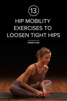 These hip mobility exercises can help you increase your hip mobility, loosen tight muscles, lessen your risk for injury, and even reduce pain caused by long periods of sitting. Hip Mobility Exercises, Hip Stretches, Crossfit Exercises, Hip Strengthening Exercises, Butt Workouts, Stretching, Happy Baby Pose, Tight Hips, Improve Flexibility