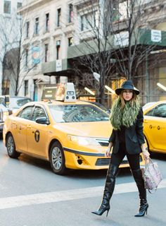 How to wear bright accessories - Sydne Style  Bright Accessories at Fashion Week