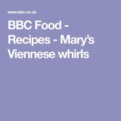 BBC Food - Recipes - Mary's Viennese whirls