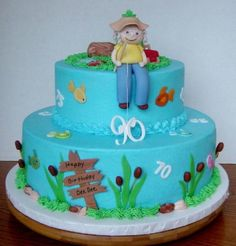 90th Birthday Fishing Cake