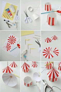 DIY Circus Party Hats discovered by mg on We Heart It Circus Carnival Party, Circus Theme Party, Carnival Birthday Parties, Circus Birthday, Birthday Party Themes, Circus Wedding, Circus Circus, Diy Carnival, Carnival Costumes