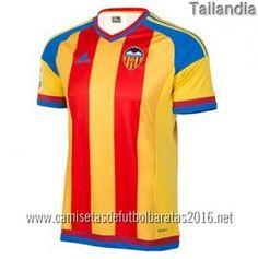 Camisetas de futbol baratas tailandia Valencia 2016 2ª equipación