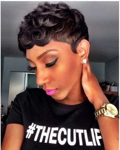 Loose Pin Curls Short Haircut The Cut Life T. Loose Pin Curls Short Haircut for Black Women Short Cuts, Black Short Haircuts, . 25 Super Cute Hairstyles for My Hairstyle, Girl Hairstyles, Black Hairstyles, Black Short Haircuts, Trendy Hairstyles, Short Curly Weave Hairstyles, Haircut Short, Amazing Hairstyles, Vintage Hairstyles