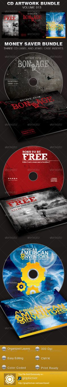 The CD Cover Artwork Template Bundle-Vol 013 is great for any Church Sermon or event. It can be used for audio book, recording artists, media players, iTunes sales, demos, and lots more. In this package you'll find 3 Photoshop file. All text and graphics in the file are editable, color coded and simple to edit. $11.00