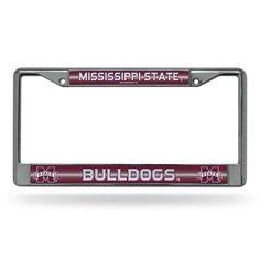 Mississippi State Bulldogs Bling Chrome License Plate Frame