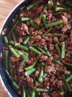 Barefeet In The Kitchen: Lebanese Beef and Green Beans