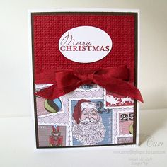 The Secret Life of Paper: Fifth and Final Christmas Camp Card. Stampin Up Letters from Santa DSP Die Cut Christmas Cards, Holiday Cards, Santa Letter, Secret Life, Handmade Christmas, Gift Tags, Stampin Up, Paper Crafts, Gift Wrapping