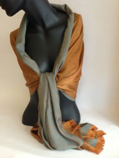 Silk and cotton scarf : code k0025 by lotussilk on Etsy