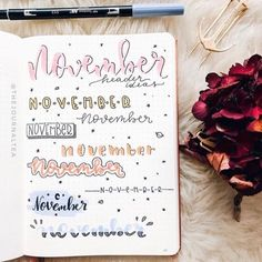 If you're in need of some impressive bullet journal header ideas, this post is definitely for you. After researching for my own bullet journal, I thought that c Bullet Journal Headers, Journal Fonts, Bullet Journal Aesthetic, Bullet Journal Notebook, Bullet Journal Printables, Bullet Journal 2019, Bullet Journal Ideas Pages, Bullet Journal Layout, Bullet Journal Inspiration