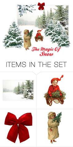 """The Magic Of Snow"" by patchworkcrafters ❤ liked on Polyvore featuring art"