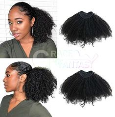 Afro Kinky Curly Ponytails Clip In Human Hair Extensions For African Amaricans Kinky curly Natural Virgin Clipin Ponytail HairPieces Curly Puff Ponytail Top Closure in stock at cheap price for women Curly Ponytail Weave, Natural Hair Ponytail, Puff Ponytail, Black Ponytail Hairstyles, Hair Ponytail Styles, Sleek Ponytail, Curly Hair Styles, Natural Hair Styles, Curly Haircuts