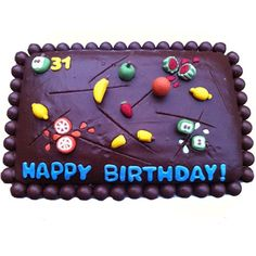Fruit Slice/Fruit Ninja Birthday Cake http://www.partyideasuk.co.uk/library/cakes/birthday/fruit-slice-birthday-cake.aspx