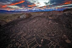 Ancient Scribe, Chalk Bluff, Owens River Valley by Greg Clure Photography, via Flickr.  This is one of the largest petroglyph panels in the Eastern Sierras located in the Chalk Hills just north of Bishop, in Owens Valley, California