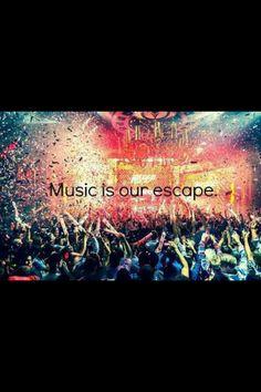 EDM World Magazine Motto - Music Is Our Escape - Check out www.edmworldmagazine.com for the latest issue #edm