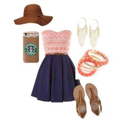 Flirt casual coffee date by siarai on Polyvore featuring polyvore fashion style Billabong Lydell NYC Dorothy Perkins