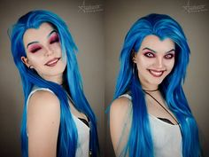 Jinx from league of legends coslay by Andrasta #jinxcostume #leagueoflegends #cosplayclass #cosplaygirl