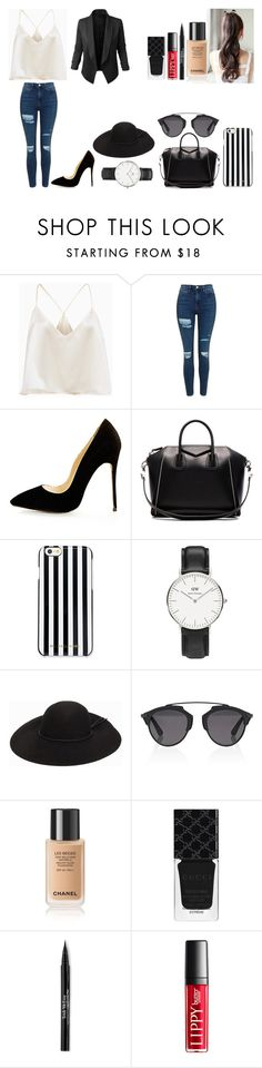 """""""Untitled #489"""" by kalieh092 on Polyvore featuring Topshop, Givenchy, MICHAEL Michael Kors, Daniel Wellington, Christian Dior, Gucci, Trish McEvoy and LE3NO"""