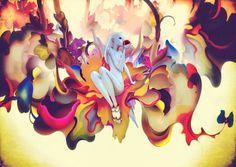 James Jean | Prada -Trembled Blossoms