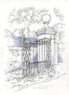 Discovered gateway ~ sketch ~ John Edwards